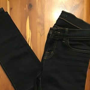 J Brand skinny dark distressed jeans